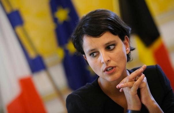 French minster for women's rights Najat Vallaud-Belkacem