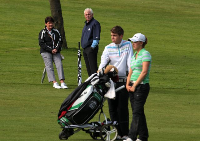 Rory Mcilroy's mum Rosie and dad Gerry watch Jessica Carty in action