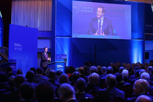 David Cameron speaking at the Northern Ireland Investment Conference