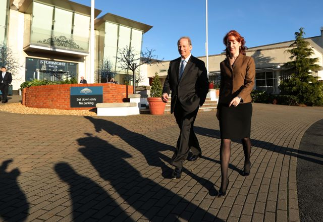 Dr Richard Haass pictured with Harvard professor Meghan O'Sullivan