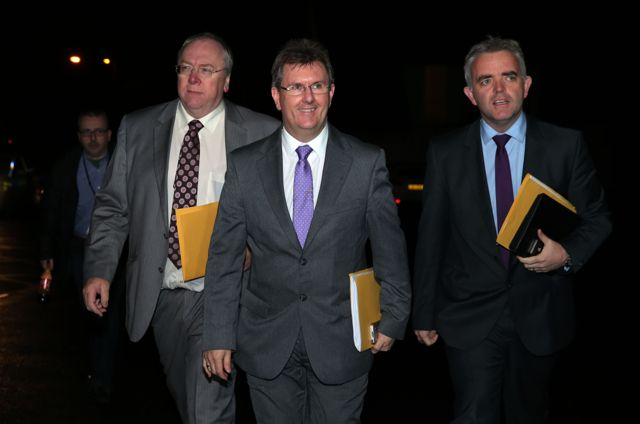 Members of the DUP delegation at the Haass Talks including Rev Mervyn Gibson