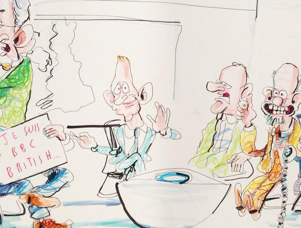 Evan Davis cartoon, Brian John Spencer