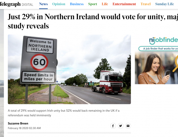 Is support for Irish unity at 29% – or 45%? – By Kevin Meagher