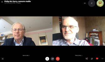 Eamonn Mallie and Dr Philip McGarry