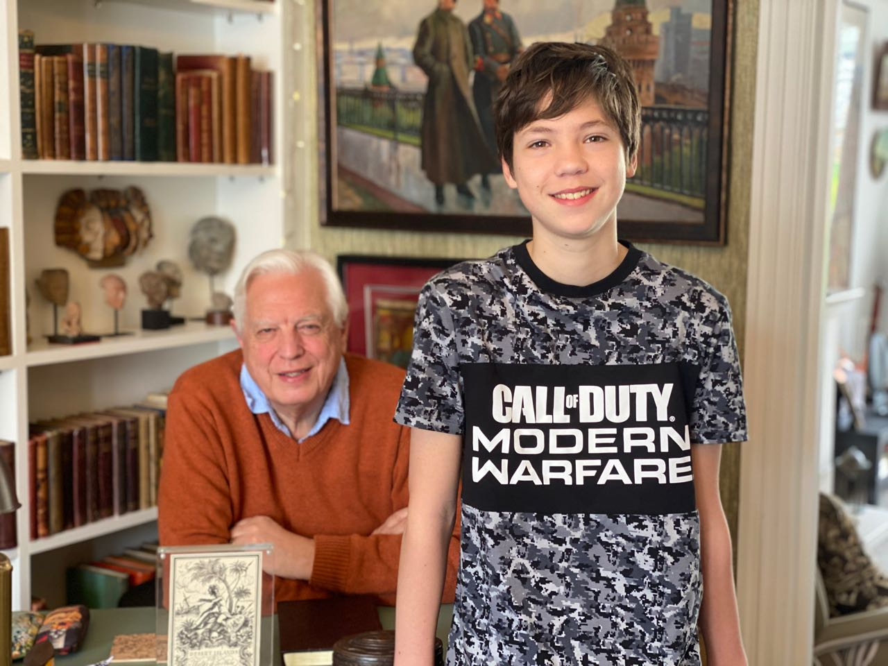 John Simpson and his son Rafe