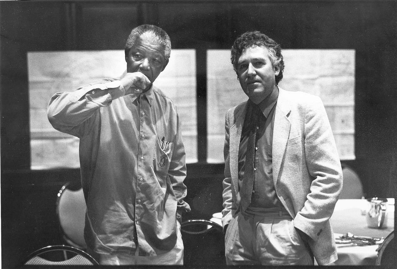 Peter Hain with Nelson Mandela